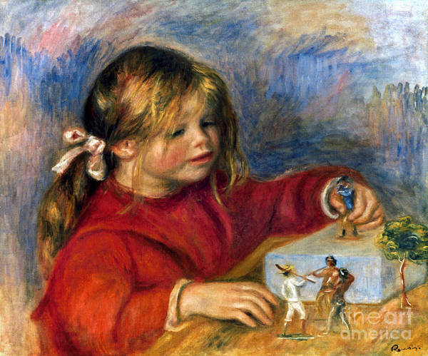 Photograph - Renoir: Claude Playing by Granger