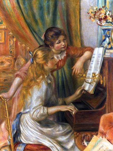 Photograph - Renoir: Girls/piano, 1892 by Granger