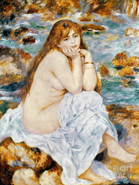 Photograph - Renoir: Seated Bather, 1885 by Granger