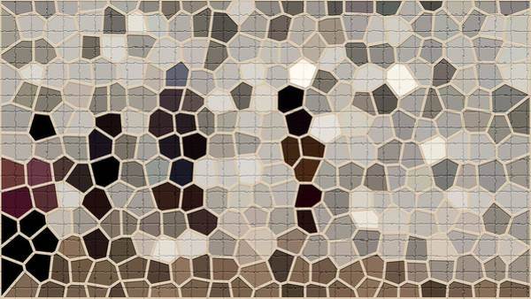 Wire Mixed Media - Repair The Cracks In Chamois, Beige And Cadet Gray Colors For Tile Series One by I'lona Tunnel
