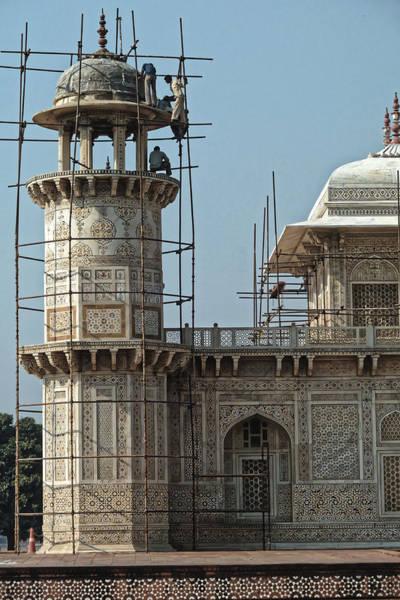 Photograph - Repairs At The Little Taj, Agra 2014 by Chris Honeyman