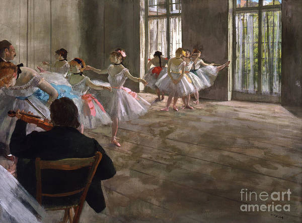 Wall Art - Painting - Repetition Au Foyer by Edgar Degas