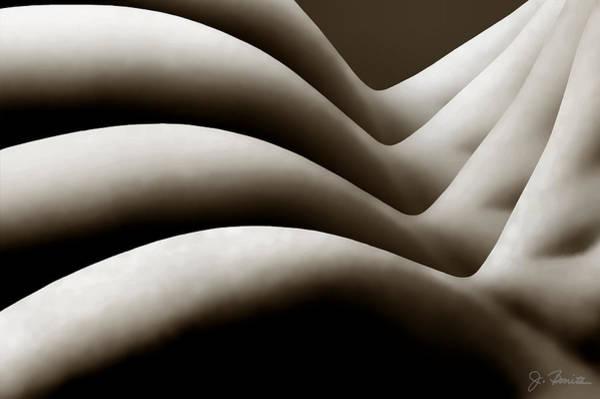 Female Nude Digital Art - Repetition by Joe Bonita