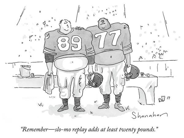 Sports Uniform Drawing - Replay Adds At Least Twenty Pounds by Danny Shanahan