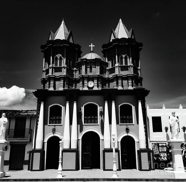 Replica Church In El Penol Art Print