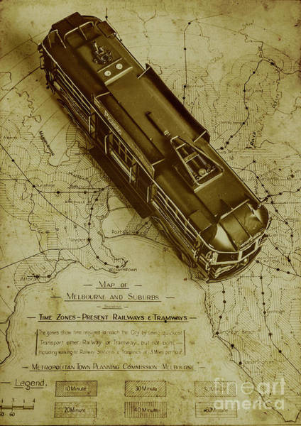 Map Photograph - Replicating Past Tram Transit by Jorgo Photography - Wall Art Gallery