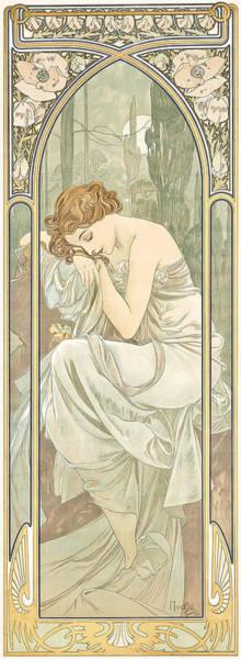 Alphonse Mucha Painting - Repos De La Nuit by Alphonse Marie Mucha
