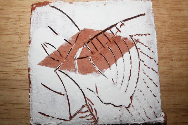 Ceramic Art - Repose - Tile by Gloria Ssali