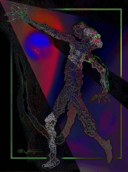 Digital Art - Reptilian by Hartmut Jager
