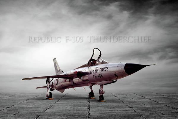 Wall Art - Digital Art - Republic F-105 Thunderchief by Peter Chilelli