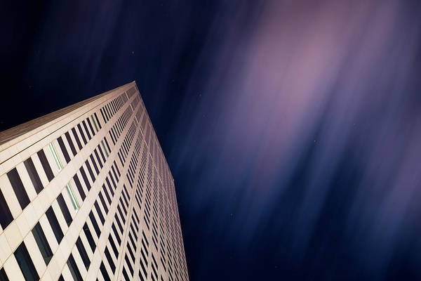 Photograph - Republic Plaza At Night 2 by Stephen Holst