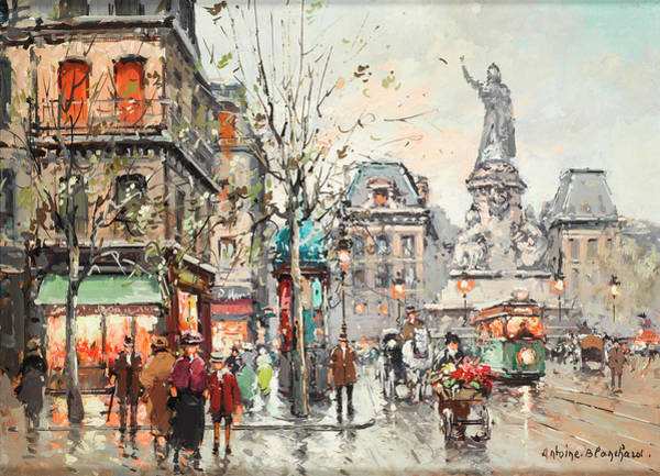Wall Art - Painting - Republic Square by Antoine Blanchard