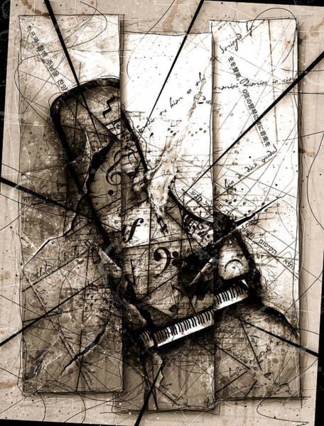 Grand Piano Digital Art - Requiem by Gary Bodnar