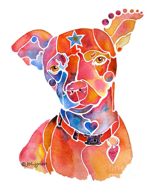 Painting - Rescue Dog - Mooch by Jo Lynch