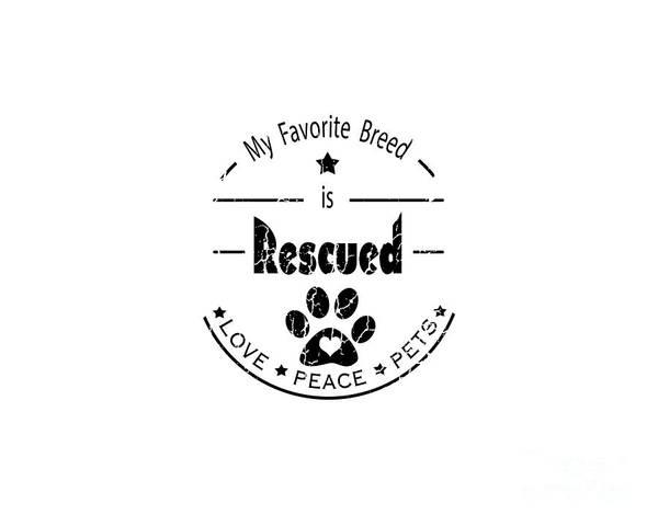 Digital Art - Rescued Love Peace Pets by Tim Wemple