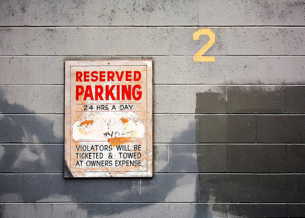 Wall Art - Photograph - Reserved Parking by Todd Klassy