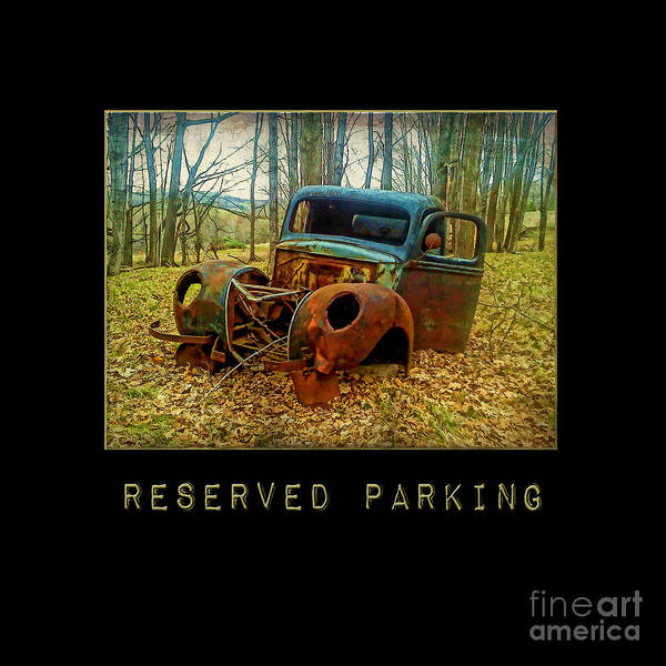 Photograph - Reserved Parking Vintage Truck by Christina VanGinkel