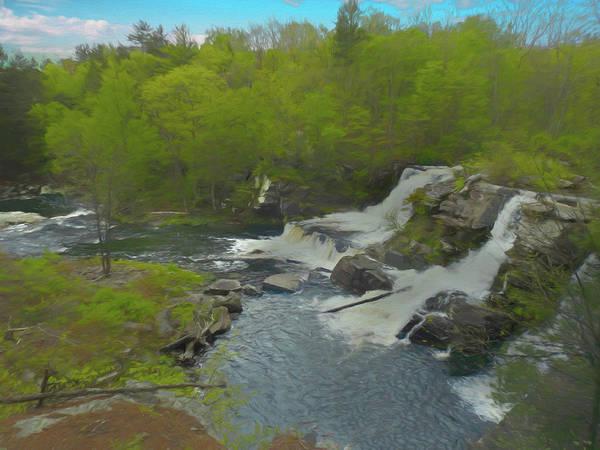 Digital Art - Resica Falls Poconos by Rusty R Smith