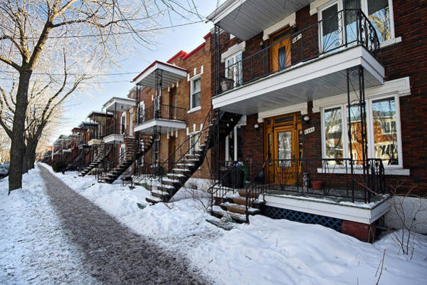 Photograph - Residential Area Of Montreal City In Winter by Pierre Leclerc Photography