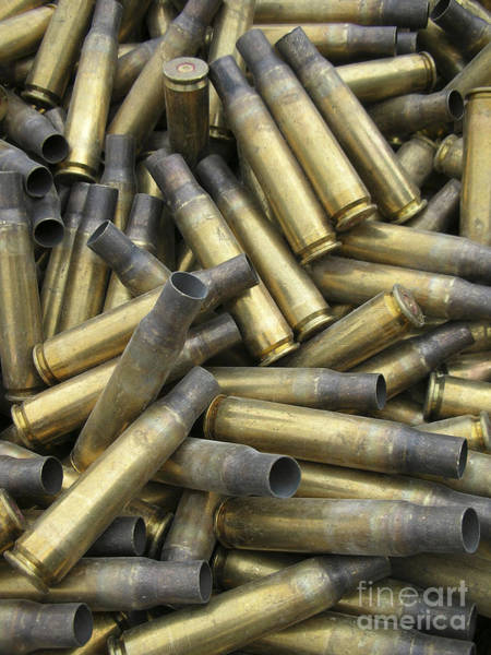 Ammo Photograph - Residual Ammunition Casing Materials by Stocktrek Images