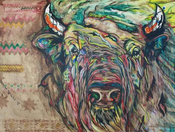 Native American Blanket Painting - Resilience by Kerri Fields