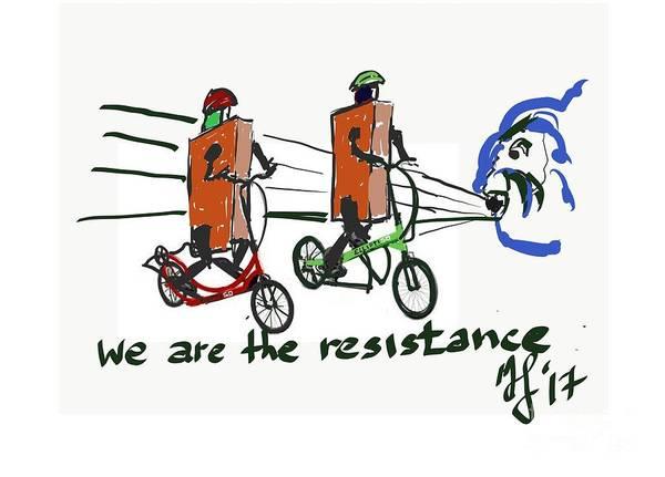Digital Art - Resistance by Francois Lamothe