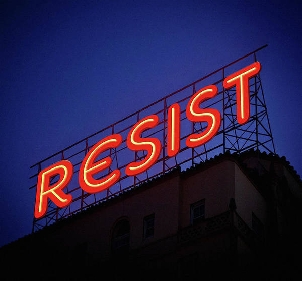 Photograph - Resistance Neon Lights by Susan Maxwell Schmidt