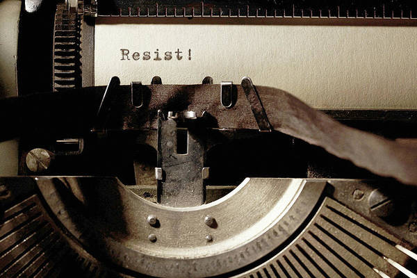 Photograph - Resistance Typewriter by Susan Maxwell Schmidt