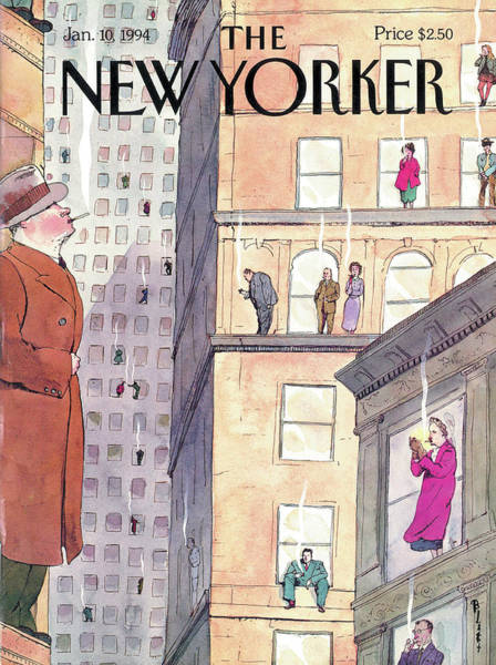 Outdoor Drawing - New Yorker January 10th, 1994 by Barry Blitt