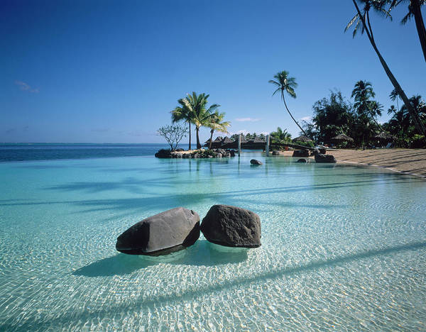 French Polynesia Photograph - Resort Tahiti French Polynesia by Panoramic Images
