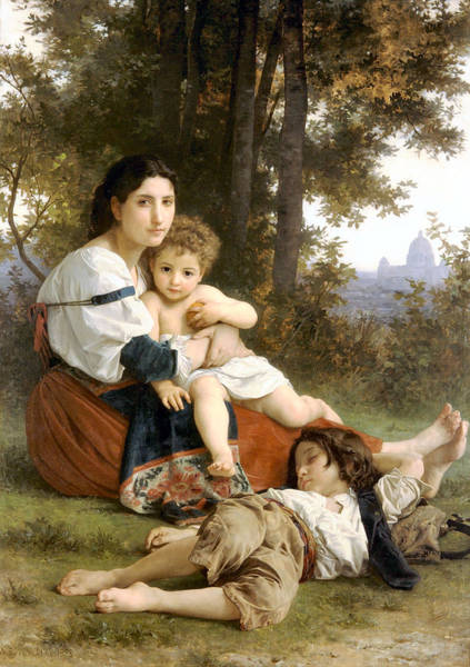 Painting - Rest 1879 by William Bouguereau Presented by Joy of Life Art