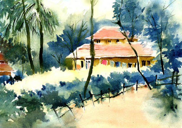 Painting - Rest House by Anil Nene