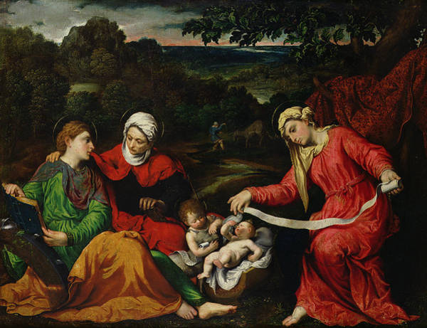 Wall Art - Painting - Rest On The Flight Into Egypt by Paris Bordone