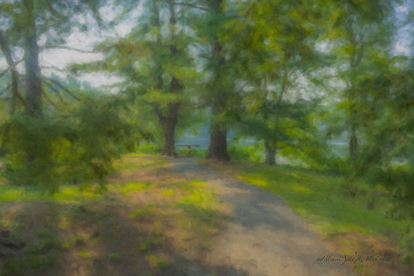 Painting - Rest Spot At Governor Oliver Ames Estate by Bill McEntee