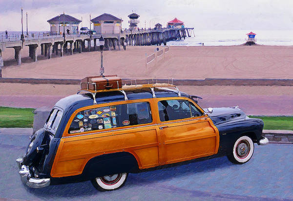 Longboard Photograph - Rest Stop At Huntington by Ron Regalado