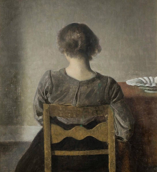 Painting - Rest by Vilhelm Hammershoi