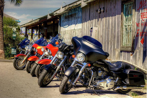 Wall Art - Photograph - Restaurant Bikers by TJ Baccari