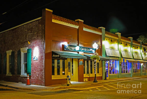 Photograph - Restaurants At Night by Tom Claud