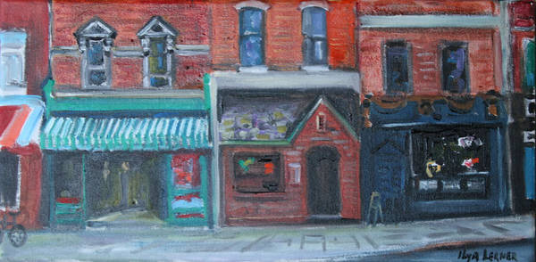 Philae Painting - Restaurants On 2nd St by Ilya Lerner