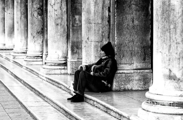 Photograph - Resting At St. Mark's Square In Venice by John Rizzuto