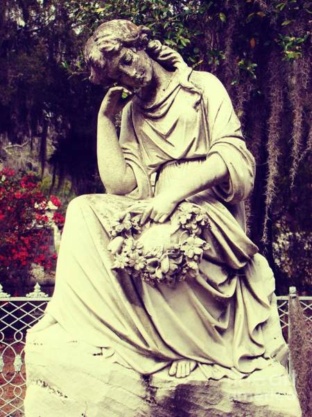 Laurel Grove Cemetery Photograph - Resting In The Garden by Maria Thompson