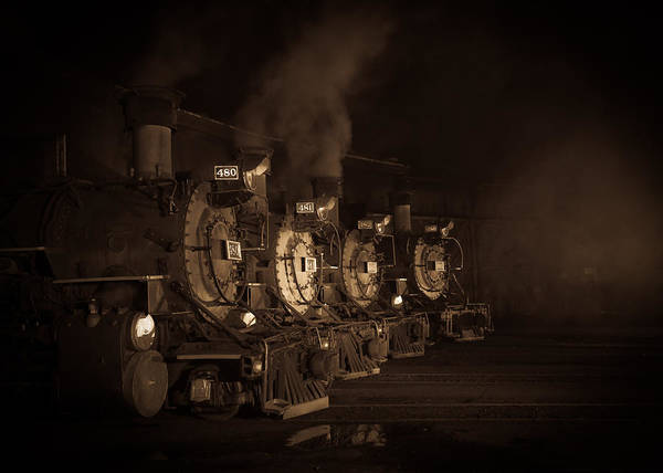 K-36 Photograph - Resting Locomotives by Patrick  Flynn