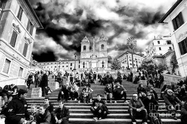 Photograph - Resting On The Spanish Steps Rome by John Rizzuto