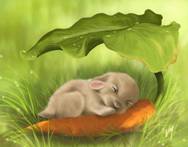 Carrot Painting - Resting Place by Veronica Minozzi