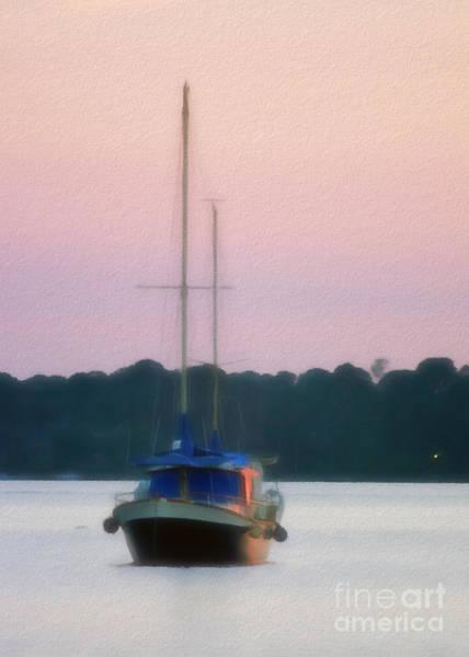 Digital Art - Resting Sailboat by Patrick M Lynch