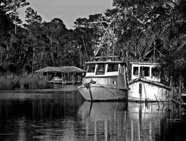 Painting - Resting Shrimp Boats by Michael Thomas