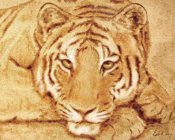 Tapestry - Textile - Resting Tiger by Dale Loos Jr