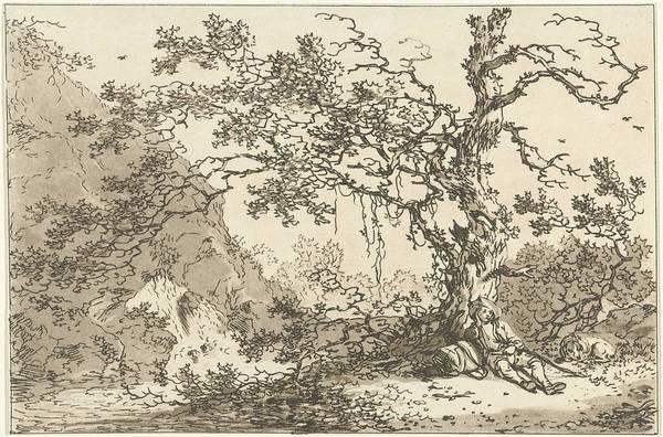 Meijer Painting - Resting Traveler With His Dog In A Landscape, Hendrik Meijer, 1789 - 1793 by Hendrik Meijer