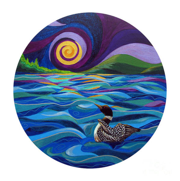 Loon Painting - Restless by Marion Bradish