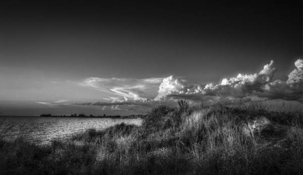 From Above Wall Art - Photograph - Restless Sky - Bw by Marvin Spates